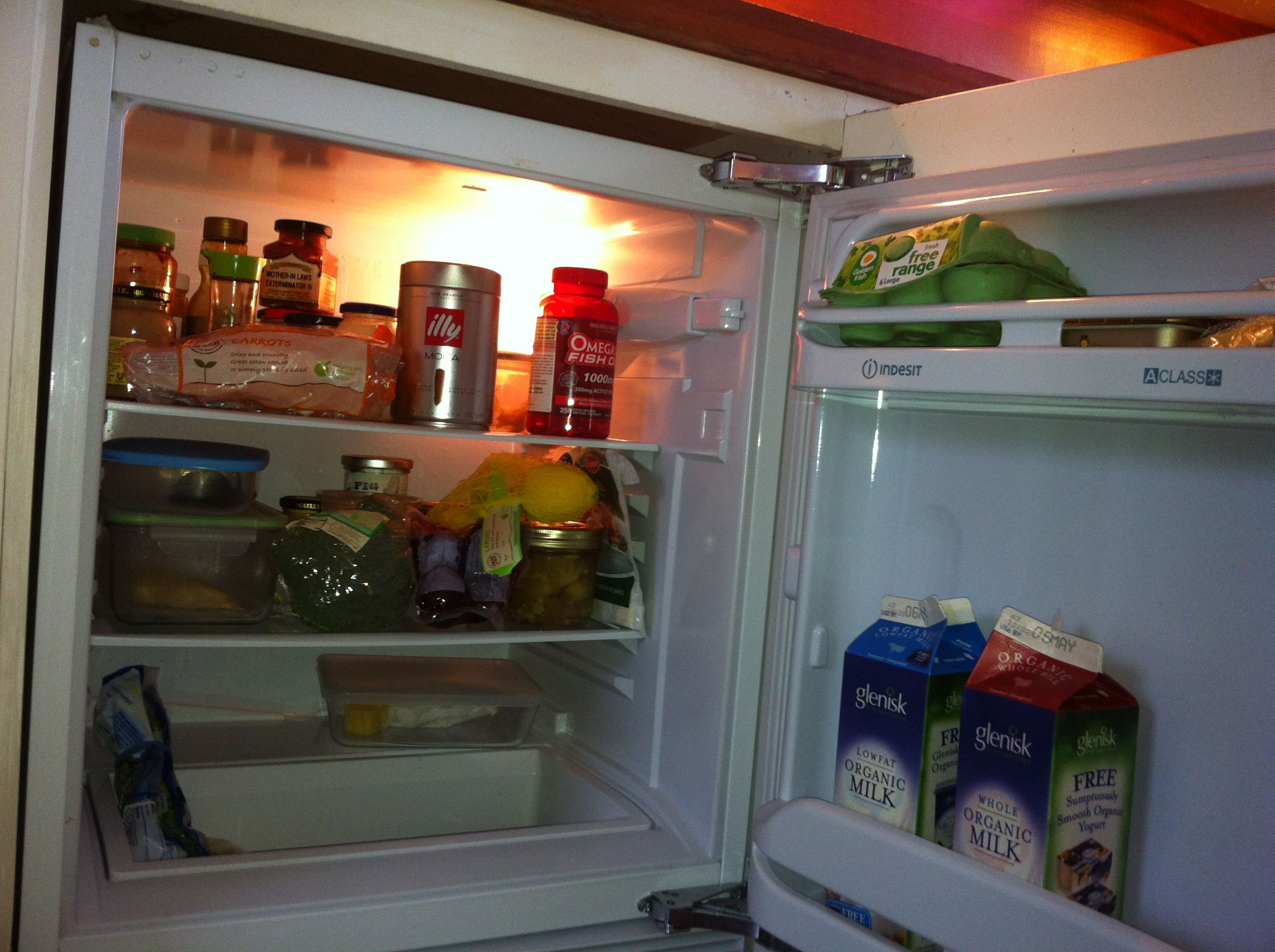 Natalie Harrower's fridge in Dublin, Ireland Top freezer