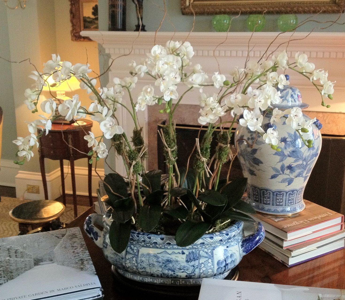 Designer Faux Orchid Arrangement