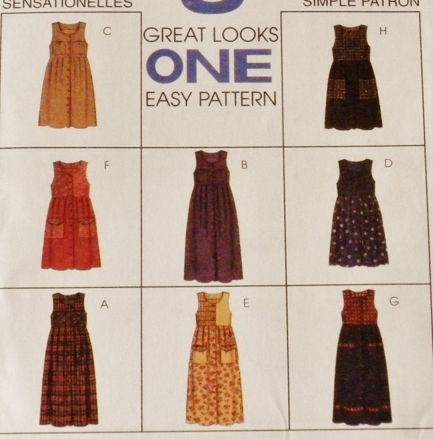 75754d0e6951 Women Jumper Dress Pattern 8472 New