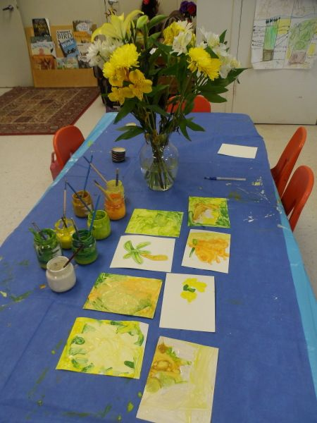 """Recreating the colours in flowers - from Maryam Lumpkin on reggio-inspired ("""",)"""
