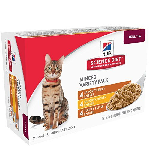 Hills Science Diet Diet Adult Savory Entree Variety Pack Canned Cat Food 12 Pack Best Value Buy On Amazon Cat Food Hills Science Diet Canned Cat Food