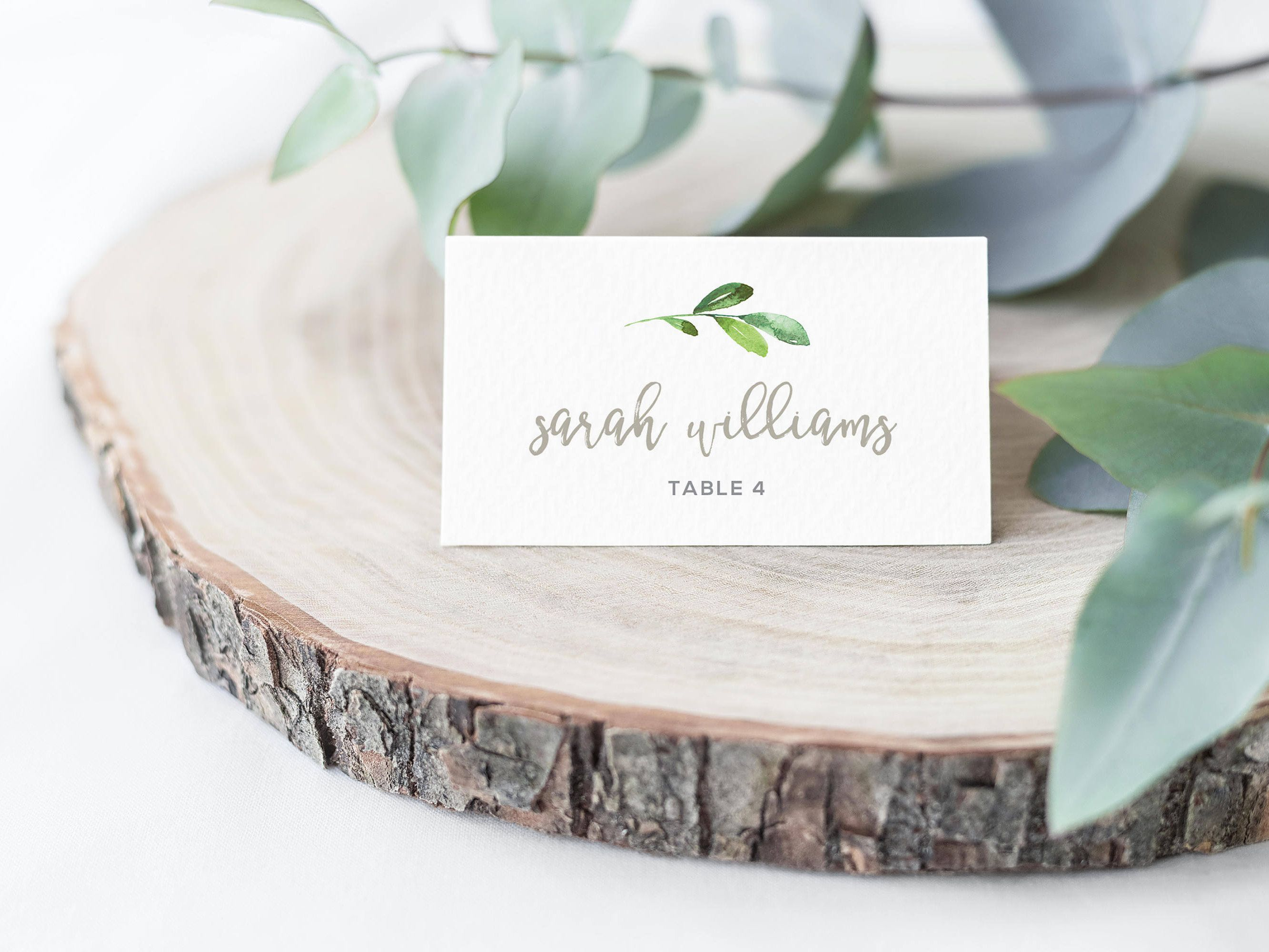 Greenery Place Card Template Printable Wedding Place Cards Etsy Printable Place Cards Wedding Wedding Seating Cards Wedding Name Cards
