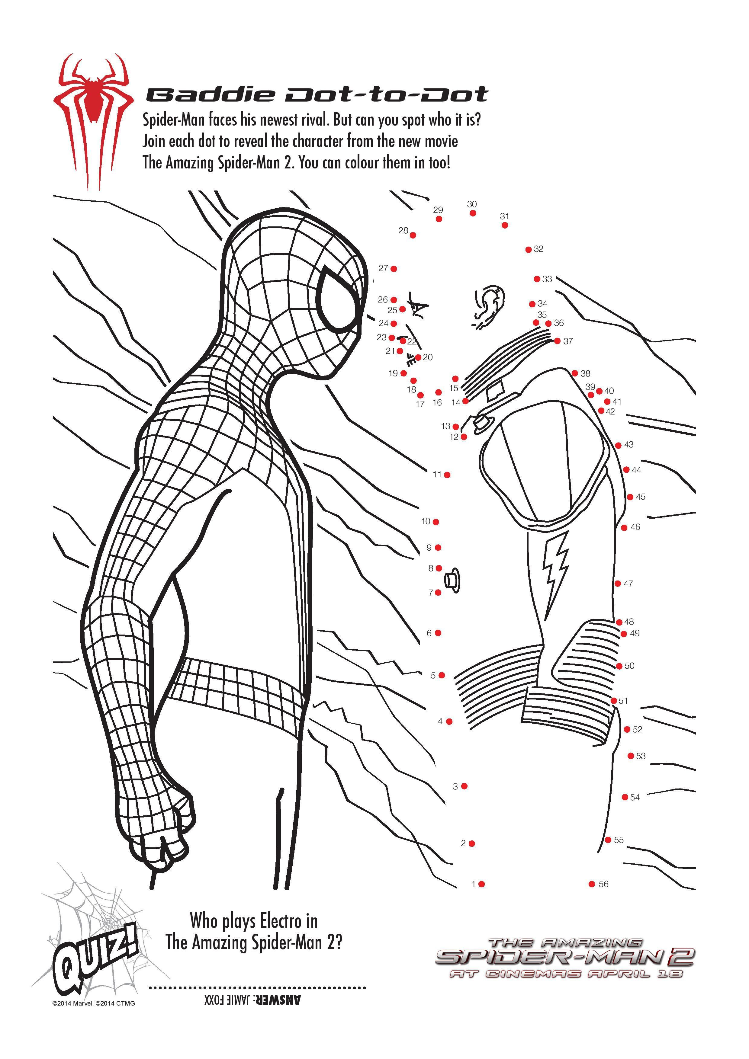 Free Printable Spiderman Colouring Pages and Activity Sheets | Pinterest