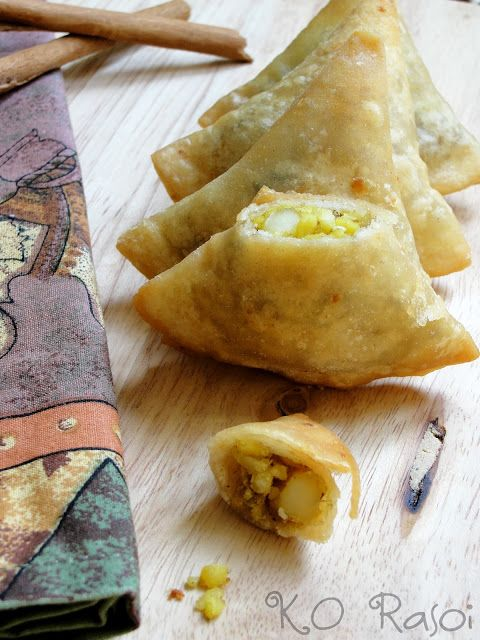 Little Mung Daal and Paneer Samosas | K.O Rasoi