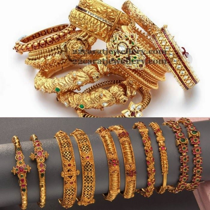 Antique Bangles Mela by Hiya Jewellers Bangle Gold bangles and