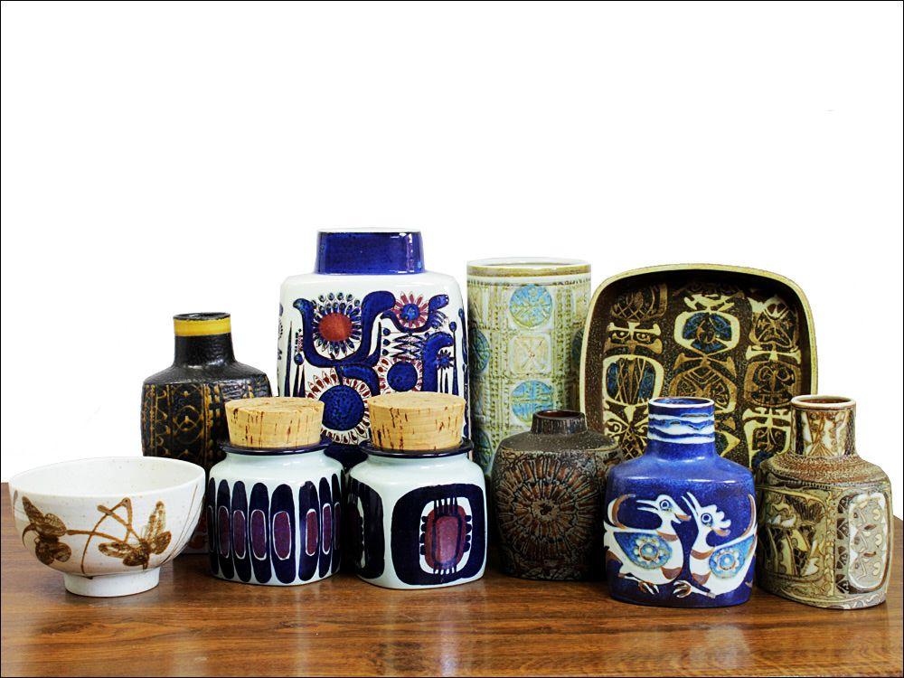 Danish Modern Vases Royal Copenhagen Aluminia West Germany Pottery Danish Ceramics Scandinavian Ceramic