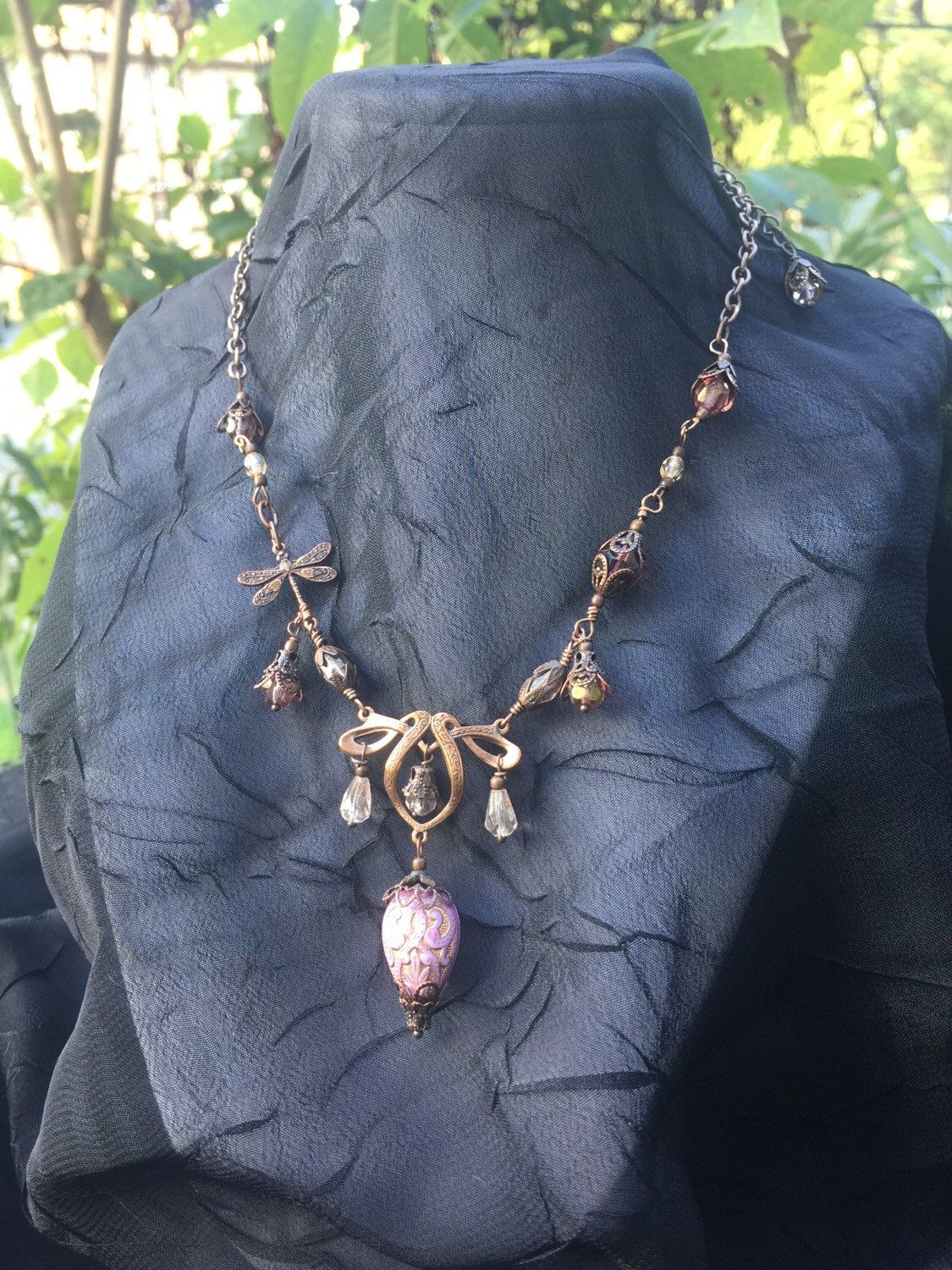 Steampunk Hot Air Balloon Dragonfly Copper Tone Necklace by AestheticAmbrosia on Etsy https://www.etsy.com/listing/249781544/steampunk-hot-air-balloon-dragonfly