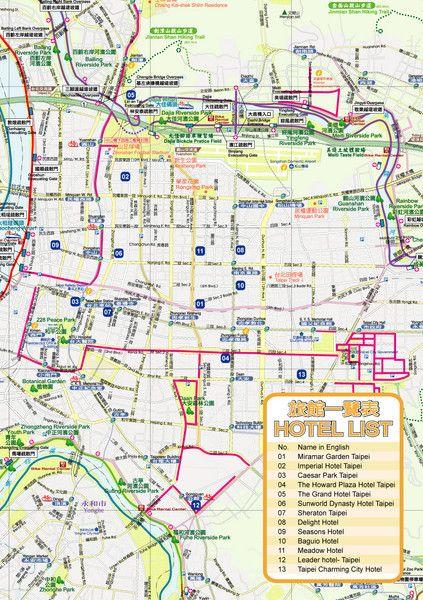 nice taipei map tourist attractions