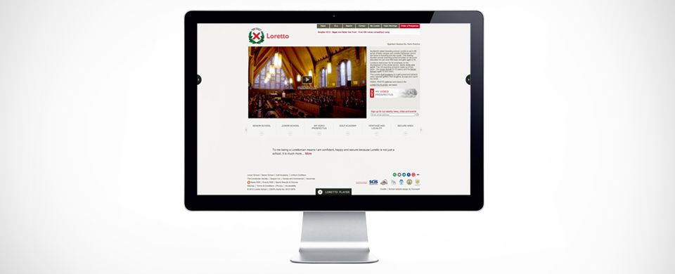 Concept4 were commissioned by Loretto to develop an interactive website, coupled with an intelligent personal prospectus.
