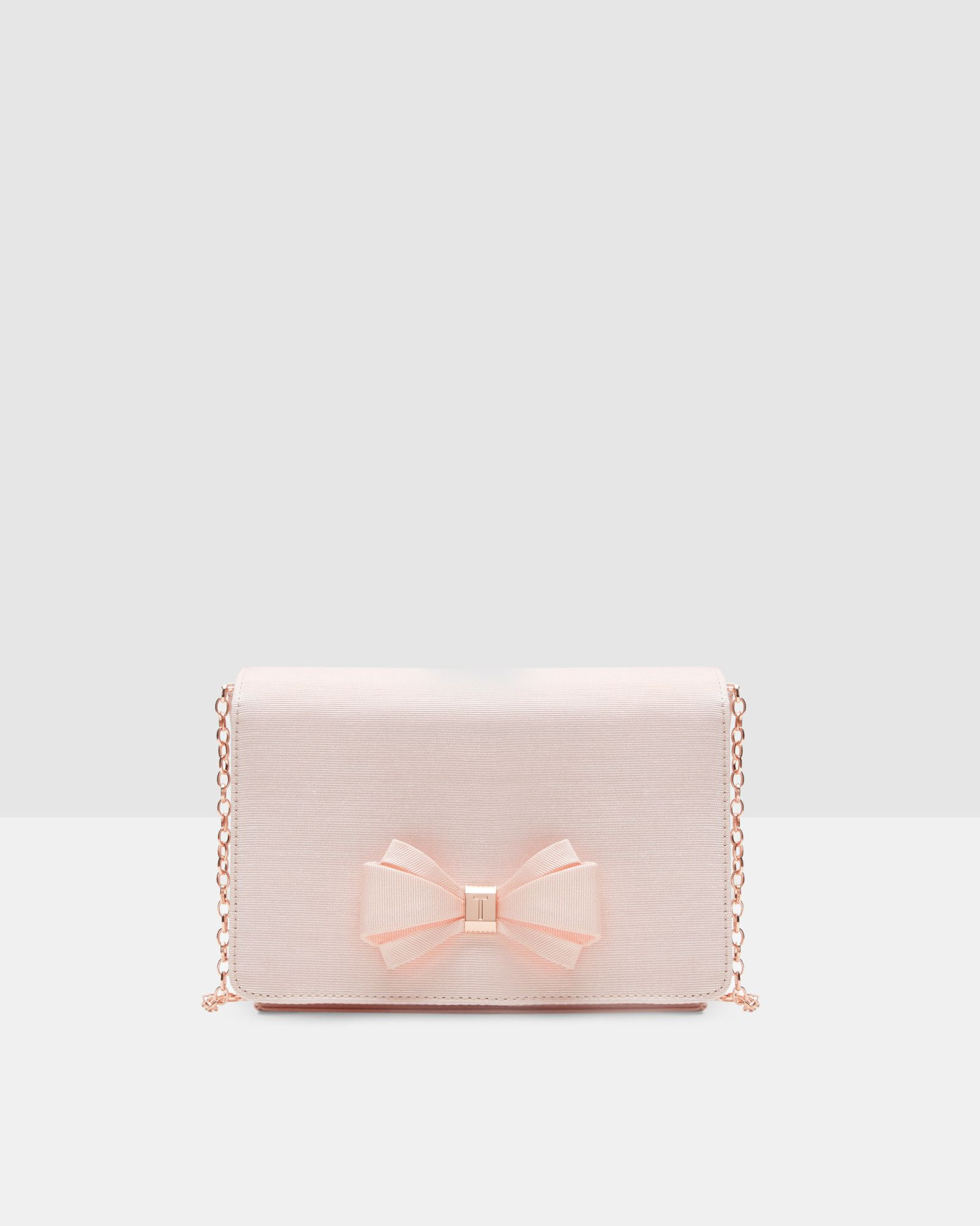 33e3347b71ac Bow detail clutch - Baby Pink