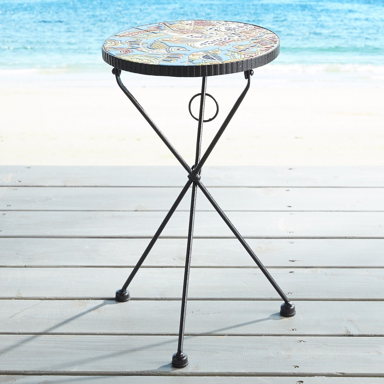 Calera Blue Mosaic Accent Table Mosaic Accent Table Side Table