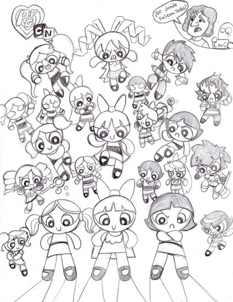 Printable coloring pages umizoomi - Free Printable Powerpuff Girls Coloring Pages For Kids