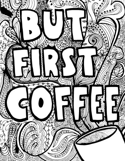 Grab these adult coloring pages in a coffee theme! | Colorear ...