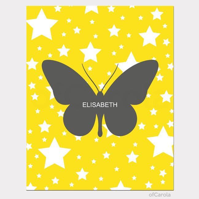 https://www.etsy.com/listing/177325097/butterfly-girl-nursery-name ...