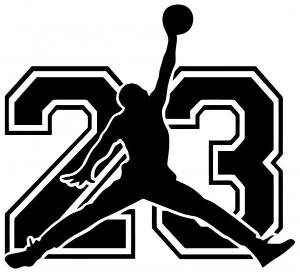 Wall decal Michael Jordan with number 23Rated 5.00 out of