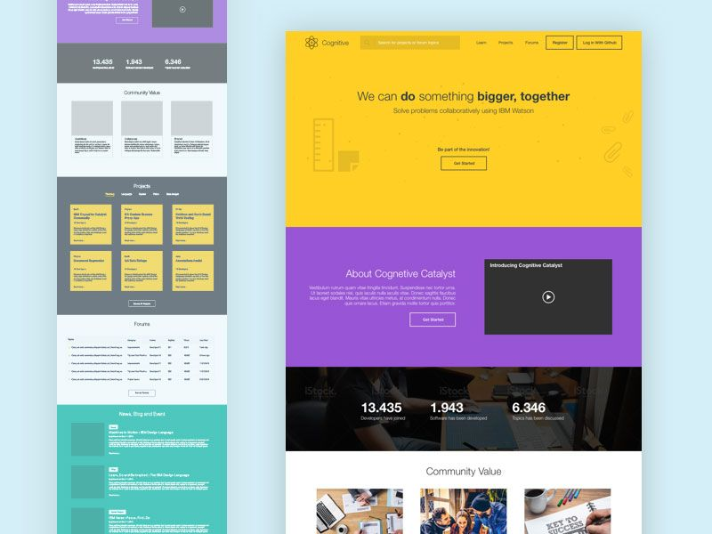 Landing Page Template - Free sketch resource for download ...