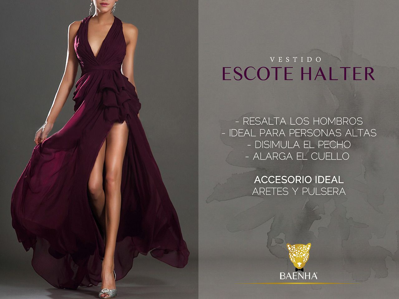 El corte Halter en un vestido tiene sus ventajas y desventajas, aquí te dejamos unas observaciones para que las tomes en cuenta.
