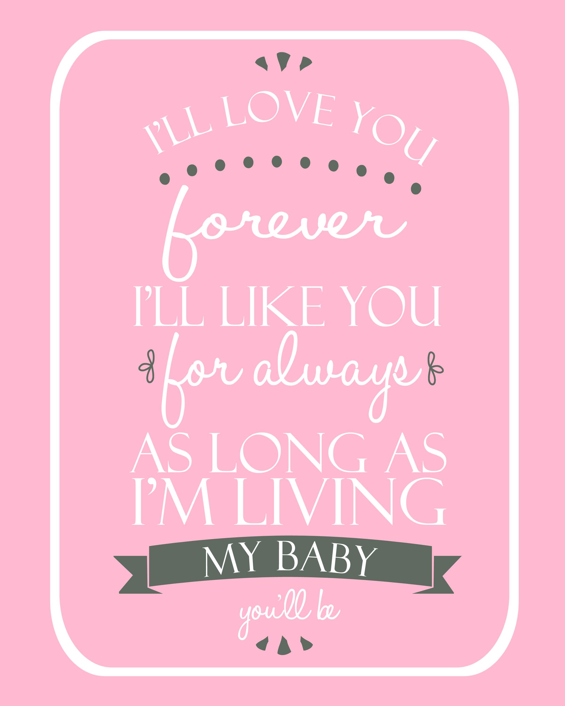 Free printable - pink - baby girl nursery 8x10 | Sadie | Pinterest ...