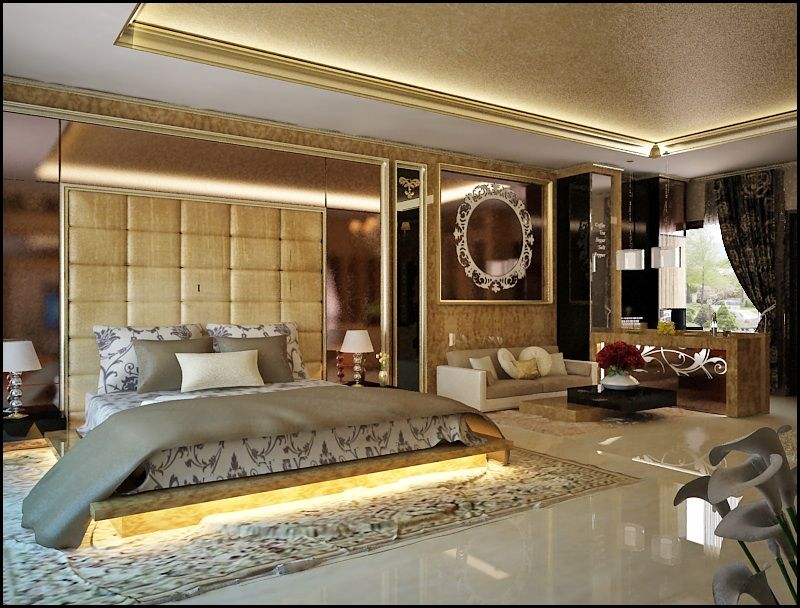 Another view of Luxury classic master bedroom project on cirebon ...