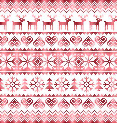 Photo of Nahtloser pixeliger Mustervektor des Winterweihnachtsrotes