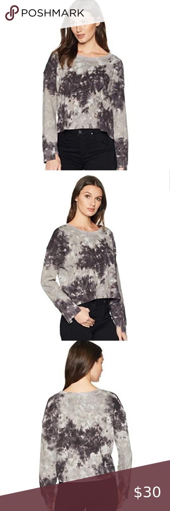 Splendid Grey Purple Tie Dye Pullover Sweatshirt Purple Tie Dye Tie Dye Long Sleeve Women [ 1740 x 580 Pixel ]