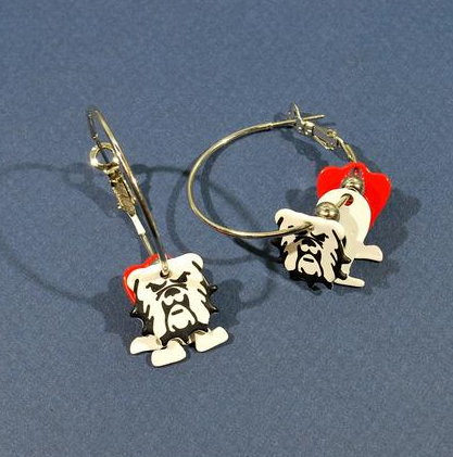 Bulldog Earrings | Products | Pinterest