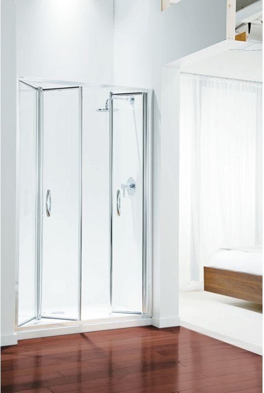 Coram Premier Tri Fold Door 1200mm Comparethebathroom Com Shower Doors Bathroom Design Bathrooms Remodel