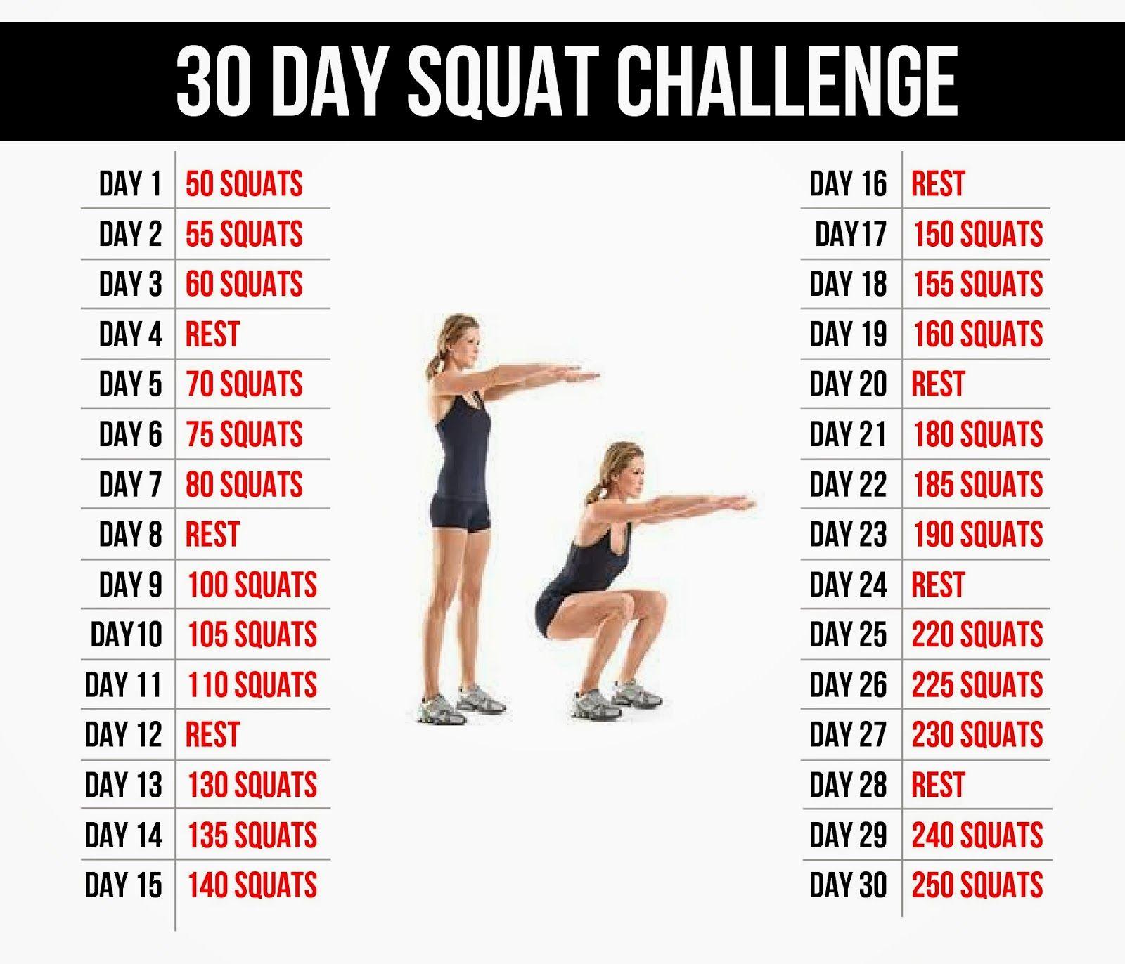Reto 30 D 205 As De Squats Retos ˜�☆ Pinterest Plan De