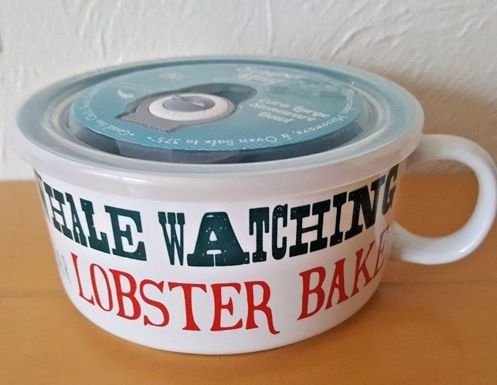Boston Warehouse Large Soup Mug with Lid Nautical Ocean 22 oz ...