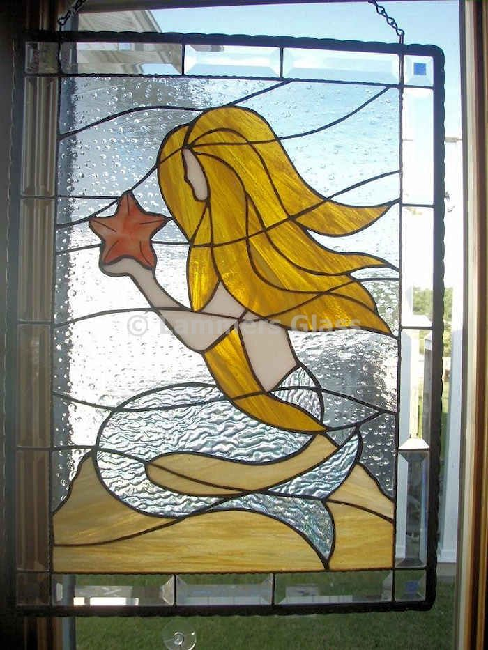 simple mermaid stained glass patterns - Google Search ...