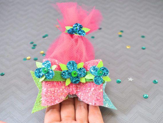 Poppy Hair Bow Troll-Inspired Hair Bow