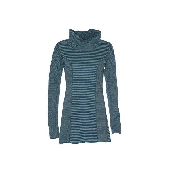 Women's Ojai Clothing Reversible Topa Tunic - Deep Sea Tunics (1,495 MXN) ❤ liked on Polyvore featuring tops, tunics, blue, blue tunic, dressy tunics, long tops, blue top and dressy tops
