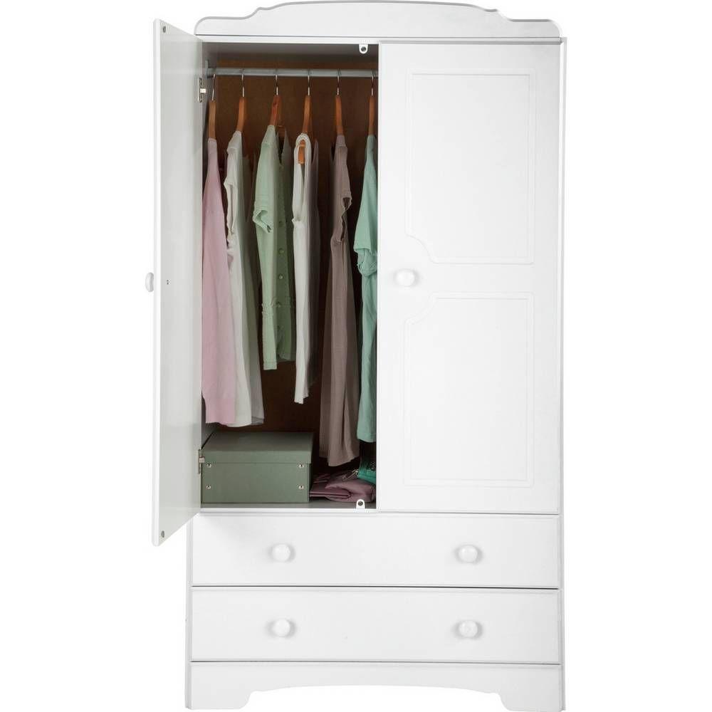 Buy Argos Home Nordic 2 Dr 2 Drawer Short Wardrobe Grey Pine Wardrobes Argos In 2020 Argos Home Pine Wardrobe Drawers
