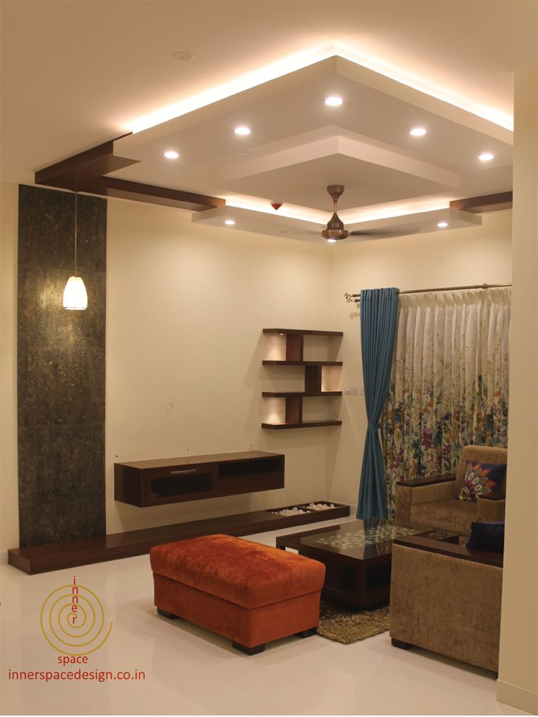 Contemporary Ceiling Designs For Living Room: Savitha & Panindra - Inner Space