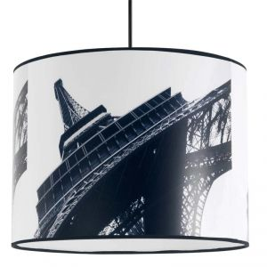 suspension de plafond abat jour tour eiffel luminaire moderne ambiance paris luminaires. Black Bedroom Furniture Sets. Home Design Ideas