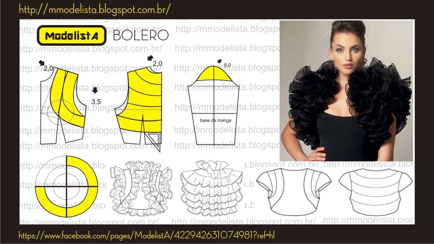 BOLERO | Patrones, Costura y Patrones blusas
