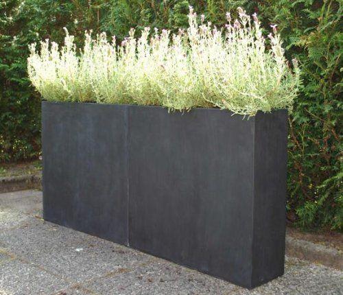 4er Set Blumenkübeleinsatz 29x29x32 cm mit Bewässerungsset schwarz