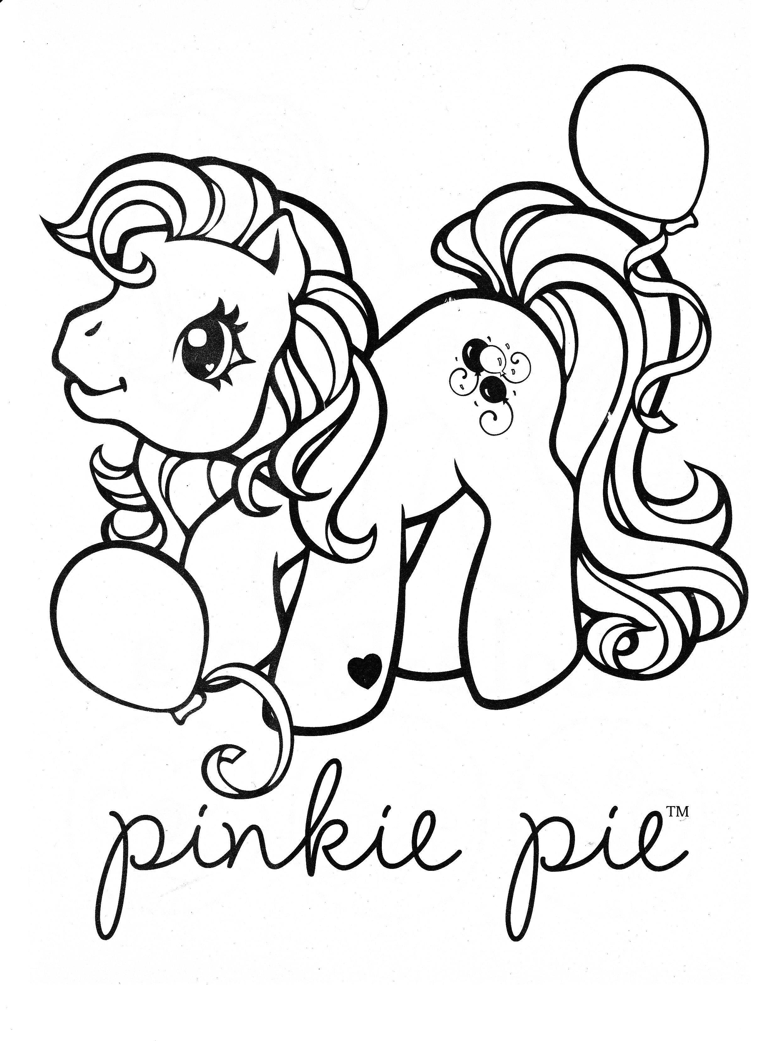 My Little Pony Coloring Page Mlp Pinkie Pie Unicorn Coloring
