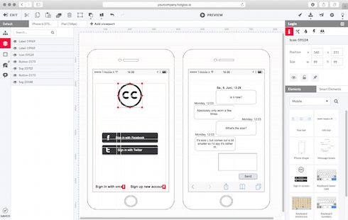 Web Mobile Wireframe Prototyping Web Ios Android And Ux Tool Hotgloo Wireframe Mobile Prototyping Tools Wireframe