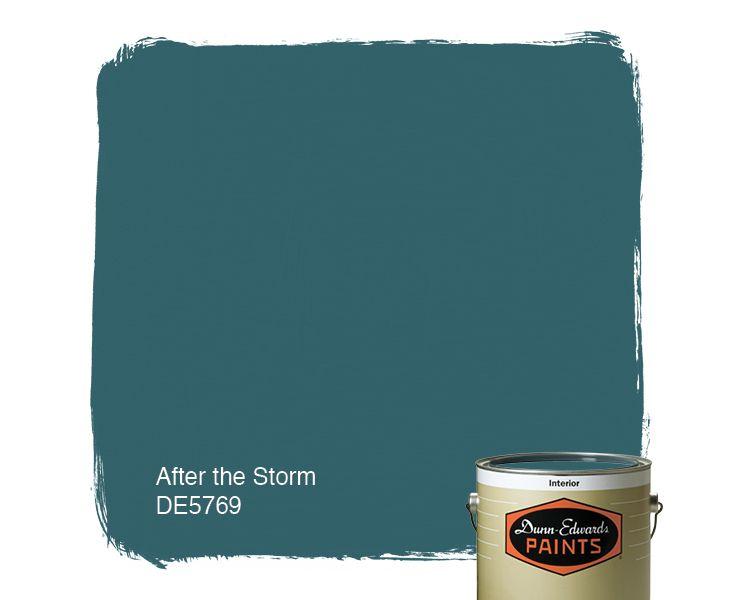 Dunn-Edwards Paints blue paint color: After the Storm DE5769 | Click for a free color sample #DunnEdwards