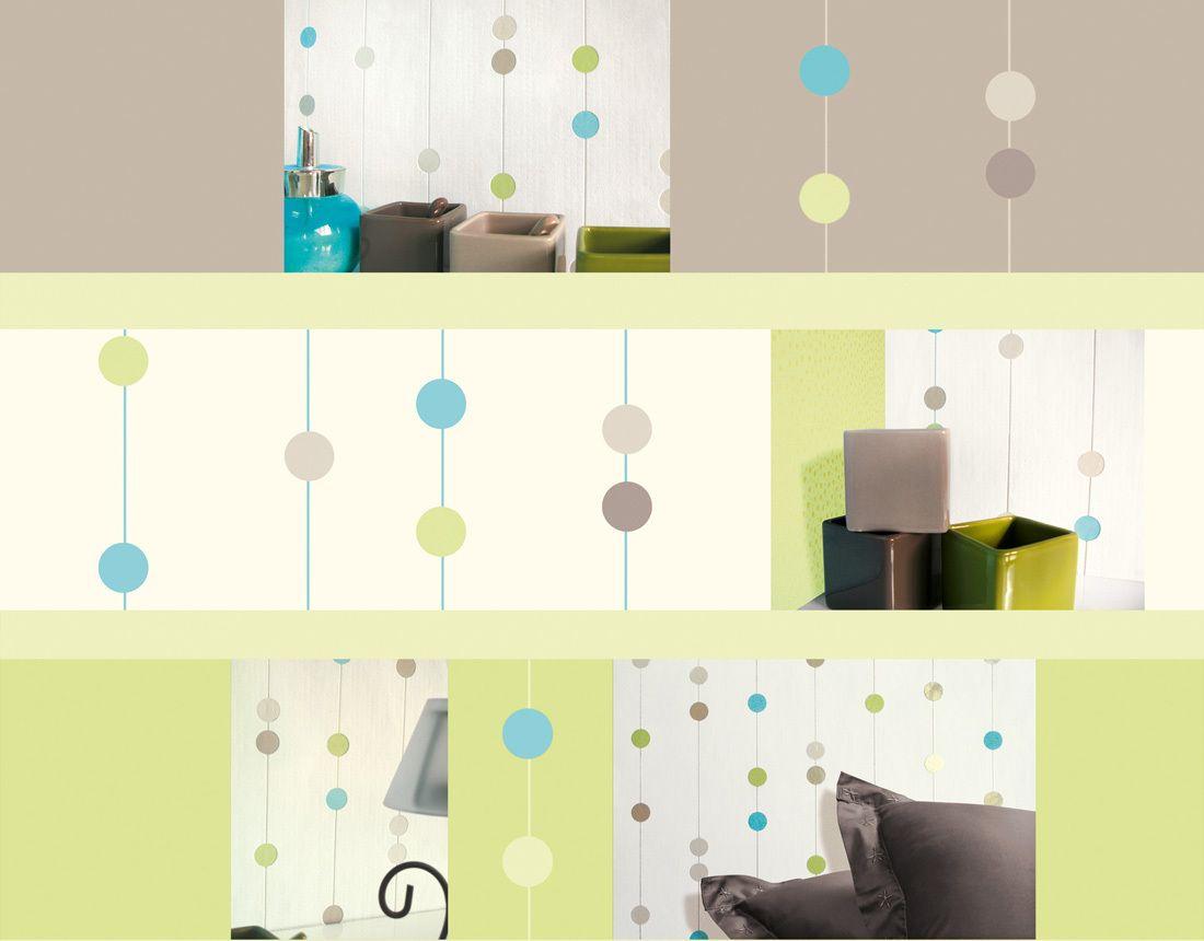 A.S. Création Tapete 208521: Tapete, Blau, Grün, Weiß, Natur, Modern, Flur,  Kinder, Schlafen, Wohnen, Kinderzimmer, Schlafzimmer, Wohnzimmer