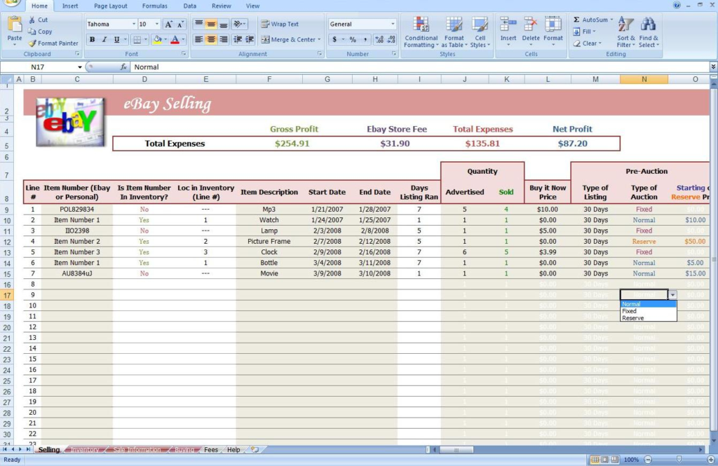 Ebay Inventory Tracking Spreadsheet Excelguider Com Spreadsheet Template Business Excel Spreadsheets Templates Spreadsheet Template