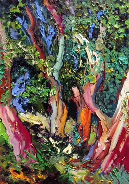 Denis Ribas Paintings 2017 05 19 Les Eucalyptus De La Madone