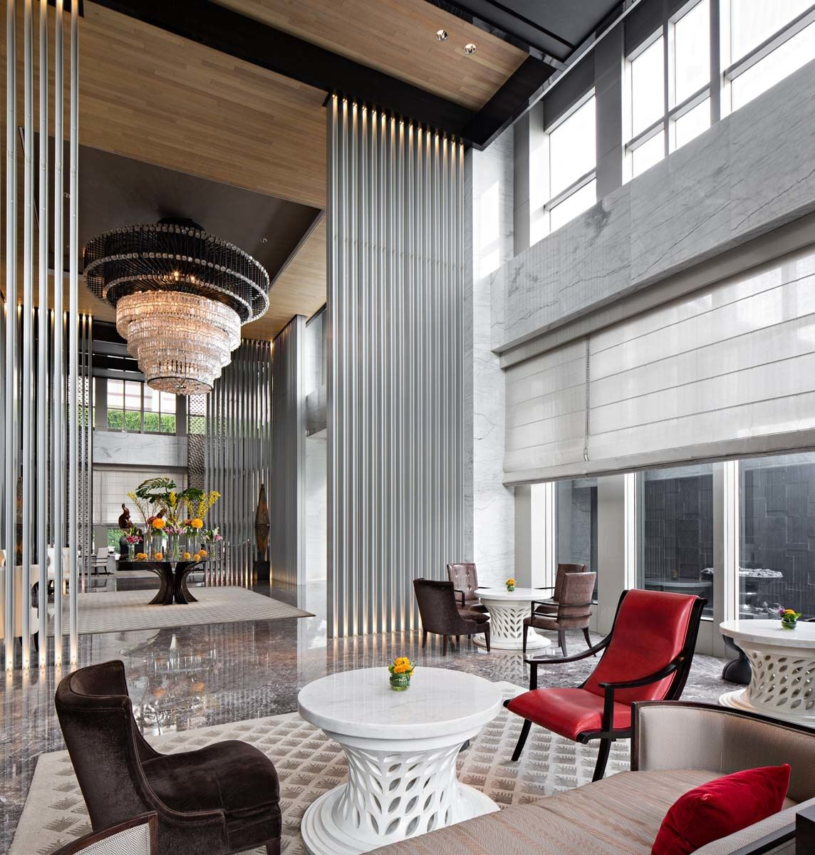 Keraton at the plaza, luxury collections hotel, lobby design by SCDA ...