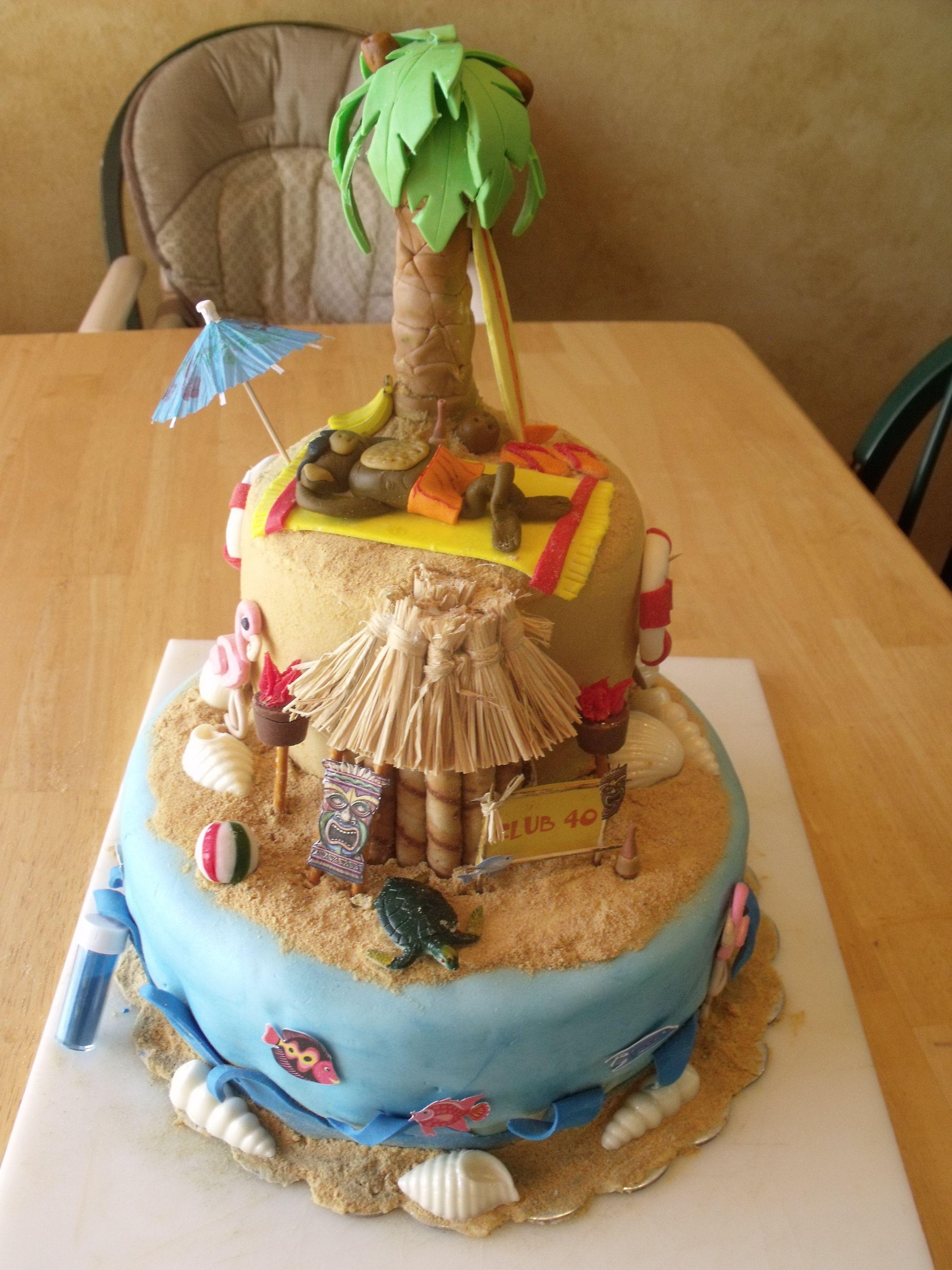 Beach monkey tropical cake beach cakes hawaii cake cake