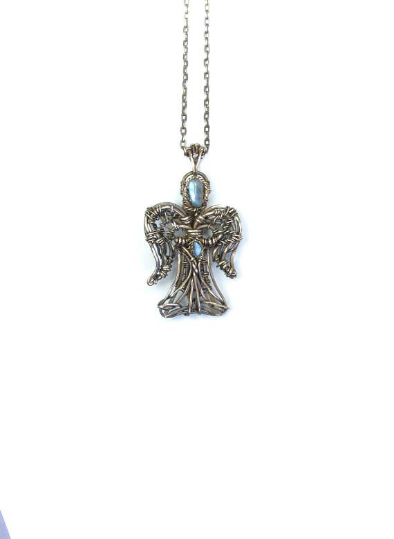 Guardian Angel Necklace Copper Angel Jewelry Wire Wrapped | Brandyd ...