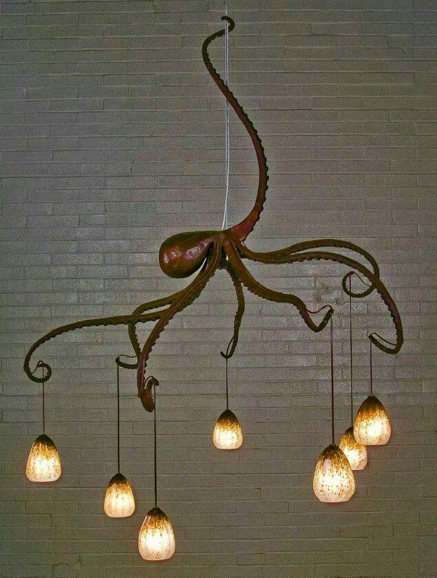 Octopus chandelier.