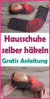 Photo of Hausschuhe häkeln – kostenlose Anleitung für Anfänger  Mit diesen gehäkelt…