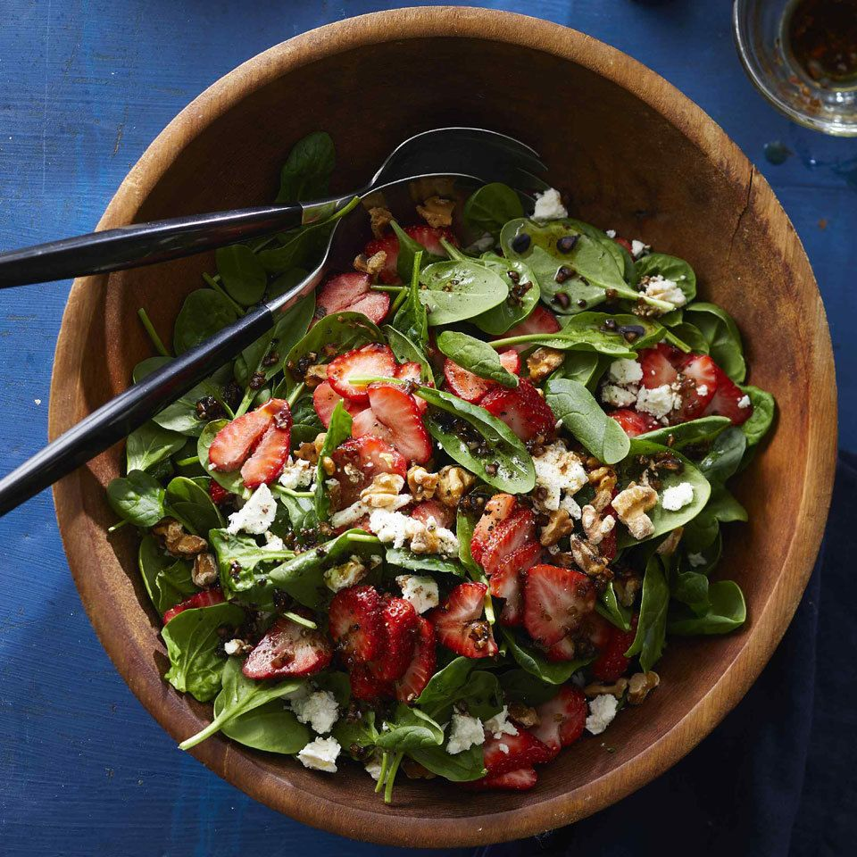 Healthy Lunch Salad Ideas For Work Spinach Strawberry Salad Strawberry Salad Salad Recipes For Dinner