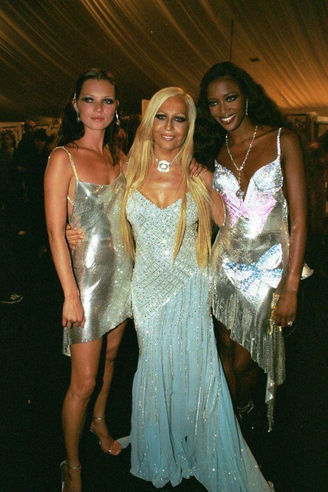 Naomi Campbell Kate Moss And Donatella Versace Fashion Models